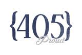 Oklahoma City  Oklahoma - 405 Area Code (Blue)