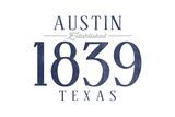 Austin  Texas - Established Date (Blue)