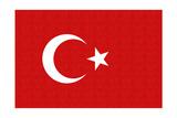 Turkey Country Flag - Letterpress