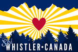 Ski Whistler  Canada - Heart and Treeline