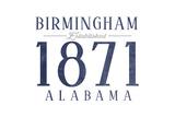 Birmingham  Alabama - Established Date (Blue)