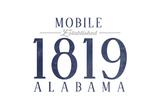 Mobile  Alabama - Established Date (Blue)