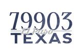 El Paso  Texas - 79903 Zip Code (Blue)