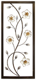 White Blooming Floral Panel