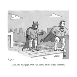 """""""I feel like bad guys aren't as scared of me in the summer"""" - New Yorker Cartoon"""