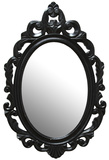 Leo Baroque Mirror - Black