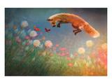Chasing Butterflies Reproduction d'art par Claire Westwood
