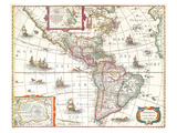 America noviter delineata 1631 Reproduction d'art par Hondio