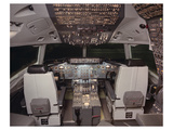 DC-10 jetliner flight Deck