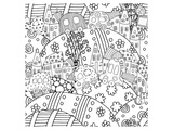 Cars Hills And Towns Coloring Art