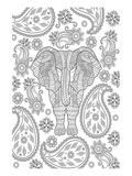Elephane & Teardrop Coloring Art