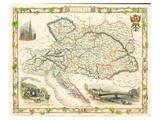 Austria - Östereich Map 1851