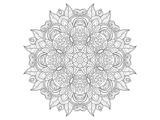 Decorative Amulet Mandala Coloring Art Poster à colorier par Anonymous