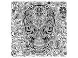 La Muerte Skull Coloring Art Poster à colorier par Anonymous