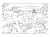 Farm Animals - Kids Coloring Art