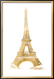 Gold Foil Eiffel Tower