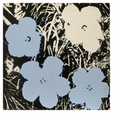 Flowers  1965 (3 blue  1 ivory)