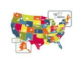USA Map (bright)