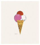Ice Cream Dessert  c 1959 (red  pink  and white)