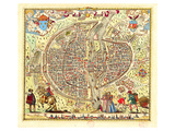 Paris Map by Rossingol 1576