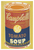 Colored Campbell's Soup Can, 1965 (yellow & blue) Reproduction d'art par Andy Warhol