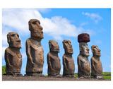 Moais in Ahu Easter island