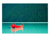 Peaceful Canoes on Lake Louise