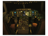 twin-engine 757 flight Deck