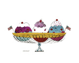 Ice Cream Dessert  c1959 (3 scoop)