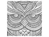 Symmetric Wing Arches Coloring Art Poster à colorier par Anonymous