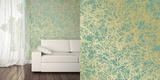 Forest Ocean Gold Self-Adhesive Wallpaper