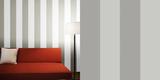 Stripe Dove Grey Self-Adhesive Wallpaper