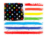 Rainbow US Flag