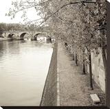 Sepia-Promenade Seine 2