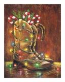 Christmas Boots Reproduction d'art par Vickie Wade