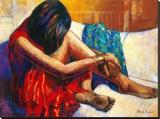 Repose Tableau sur toile par Monica Stewart