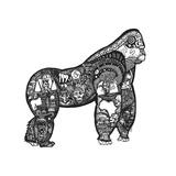 Goodbye Gorilla Reproduction d'art par Liz Ash