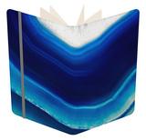 Background of Slice of Blue Agate Crystal