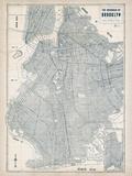 Brooklyn Blueprint Giclée par The Vintage Collection