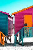 Awesome South Africa Collection - Colorful Houses Rasberry & Orange