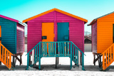 """Awesome South Africa Collection - Colorful Houses """"Seven"""" Rasberry"""