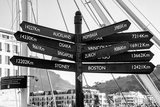 Awesome South Africa Collection B&W - Direction Sign Cape Town II