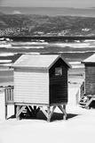 Awesome South Africa Collection B&W - Beach Huts Cape Town II