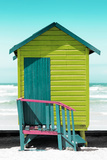 Awesome South Africa Collection - Colorful Beach Hut Cape Town - Lime & Greensea
