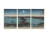 Kanazawa in Moonlight (Buyo Kanazawa HasshoYakei)  7th month  1857