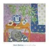 Interior with a Dog, 1934 Reproduction d'art par Henri Matisse