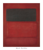 Black over Reds [Black on Red], 1957 Reproduction d'art par Mark Rothko