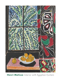 Interior with Egyptian Curtain, 1948 Reproduction d'art par Henri Matisse