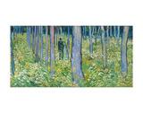 Undergrowth with Two Figures, 1890 Reproduction d'art par Vincent Van Gogh