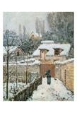 Snow at Louveciennes  1874